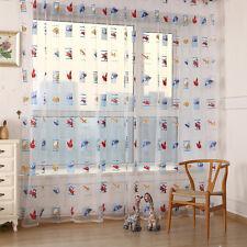 Toddler Kids Room Car Voile Panel Sheer Door Room Drape Window Curtains Scarfs