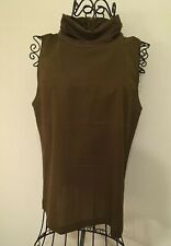 French Connection Women's  Sleeveless Top, size M, brown,  polyester, lyocell
