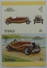 1930 Dupont Model G Car Stamps (Leaders of the World / Auto 100)