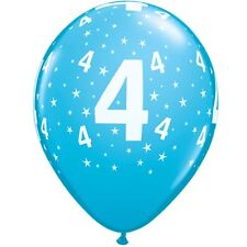 6 X 11 Pulgadas. Estampado De Estrellas Azul Látex Globos 4ª Fiesta De Cumpleaños Decoración
