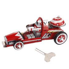 Jouet Mécanique Ancien Voiture Course Rouge Métal Collection Cadeau Enfant