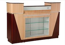 Reception counter desk glass shelve Marble Top for pedicure chair nail spa