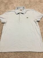 Lacoste Mens Light Blue Short Sleeve Polo Shirt Size 3
