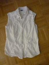 CECIL weiße ärmellose  Bluse Top Tunika Gr. S
