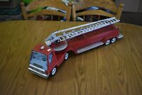 "Vintage 1970's Nylint Aerial Hook-N-Ladder Fire Truck w/ Trailer 30"" Toy Metal"