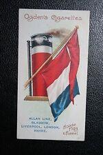 ALLAN LINE    Funnel & Flag  Original 1906 Card