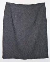 IKA Brand Grey Tweed Straight Skirt Size 12 LIKE NEW #AN02