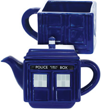 New listing Doctor Who Tea-4-One Stacking Tardis Teapot Cup Set Ceramic Cup