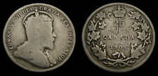 Canada 1905 Silver 25 Twenty-Five Cent Piece King Edward VII G-6
