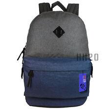 Backpack Rucksack Large Big School Travel Bag Sport Gym Boys Girls Men Ladies Blue Dark Grey / Navy