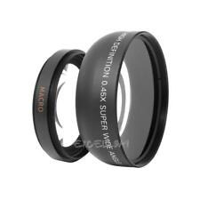 55mm 0.45x Wide Angle + Macro Conversion Lens For DSLR DC Camera E0Xc