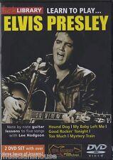 Lick Library Learn To Play Elvis Presley lección tutor Guitarra Dvd Rock Hound Dog
