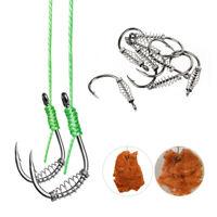 10pcs/lot High Carbon Steel Spring Hook Barbed Swivel Carp Jig Fly Fishing Hooks