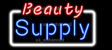"New Beauty Supply Open Shop Light Beer Decor Real Glass Neon Sign 32""x24"""