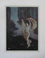 1912 Edmund Dulac TO ONE IN PARADISE Illustration original antiker Druck print