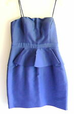 Lapis Blue Cocktail Evening Lined Strapless Dress Size 16 Adrianna Papell