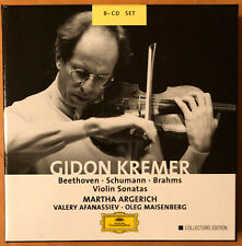 GIDON KREMER  Beethoven Brahms Violin Sonatas ARGERICH DGG BOX SET  NEAR MINT