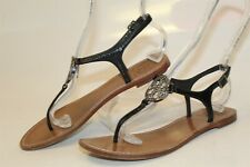 Tory Burch 21148537 Violet Thong Womens 7 M Black Patent Leather Sandals Shoes