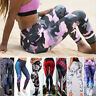 Women Floral High Waist Yoga Leggings Fitness Athletic Sports Gym Pants Trousers