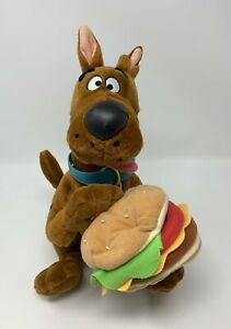 "Applause Scooby-Doo Cheeseburger Plush Stuffed Animal Toy 11"" W/ Sound - READ"