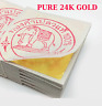 "100 SHEETS GENUINE REAL PURE 24K 999 GOLD LEAF GILDING SHEET 1.18"" BKK SUPPLIERS"
