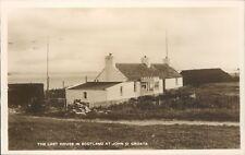 real photo John O'Groats last house in scotland M & L