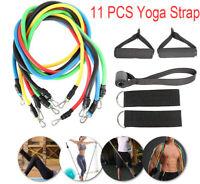 11PCS Resistance Yoga Bands Latex  Strap  Exercise Home Gym Tube Fitness Elastic
