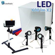 "LimoStudio 24"" Folding Photo Box Tent LED Light Table Top Photography Studio ..."