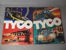 TYCO 1977 & 1979 CATALOGS ELECTRIC TRAINS AND SLOT CARS Racing Sets Buildings