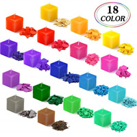 18 Color Candles Dye 20Pcs Candle Wicks Flakes Candles Making Supplies Kit Soy