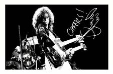 JIMMY PAGE AUTOGRAPHED SIGNED A4 PP POSTER PHOTO 1