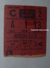 FLEETWOOD MAC Concert Ticket Stub 1979 MADISON SQUARE GARDEN Stevie Nicks TUSK
