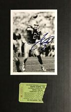 1999 Tim Couch CLEVELAND BROWNS Signed Photo And Auto Ticket