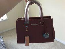 Michael Kors Red/Maroon Large Satchel Handbag Shoulder Bag Sutton MSRP $328