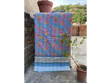 AA22 Hippie Handmade Kantha Quilt Indian Bohemian Kantha Blanket Queen Bedspread