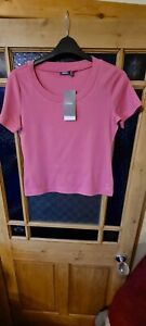 LADIES SHORT SLEEVED DUSKY  PINK T SHIRT FROM MEXX UK L RRP £12