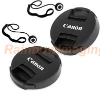 """2 x 58mm Snap-On Front Lens Cap Keeper for Canon 18-55mm Lens """"US Seller"""""""