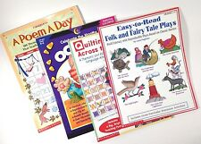Lot of 4 Early Childhood Education Teaching Books Grades Kindergarten, 1, 2, & 3
