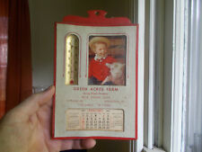 MIDDLETOWN,CT GREEN ACRES FARM MILK 1960 CALENDAR THERMOMETER DAIRY ADVERTISING