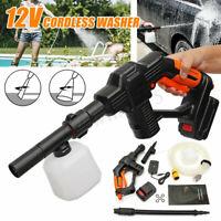 Cordless Pressure Washer Portable Li-ion Battery Power Cleaner + Hose Foam Lance