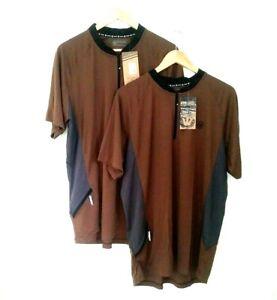NEW CANARI Mens Brown Black Biking Cycling Racing Shirt Ridge Jersey XL Lot of 2