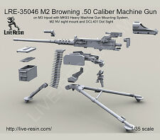 Live Resin LRE35046 1/35 M2 Browning .50 Cal Machine Gun M3 Tripod w/MK93 HMGMS