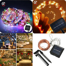 2m Colorful Solar powered Copper Wire String Fairy Waterproof Light lamp LED