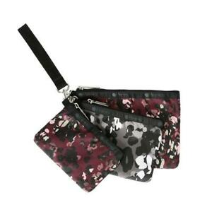 LeSportsac Classic Collection Triple Wristlet pouch Set in Lafayette Leopard NWT