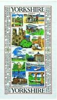 Yorkshire Tea Towel Souvenir Gift Sights Scenes Landmarks Collage Montage White
