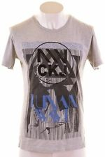 CALVIN KLEIN Mens Graphic T-Shirt Top XL Grey Cotton Slim Fit  MS11