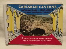 Vintage Carlsbad Caverns National Park 10 Natural Color Pictures Flip Book