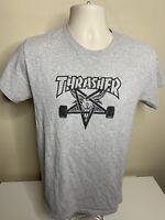 Thrasher Magazine Short Sleeve T Shirt Men's Size Small Gray