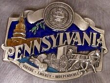 of Pennsylvania colored New Pewter Belt Buckle State