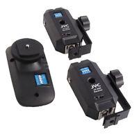 Wireless Remote Flash Trigger Set Umbrella Support + 2 Receivers for Canon Nikon